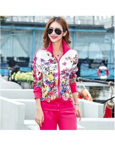 Plus Size L-5XL Tracksuit Two Piece Outfits Women Long Sleeve Top and Long Pants Autumn Fashion Floral Print Women Set Sport...