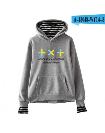 TXT Two Pieces Hoodie Sweatshirt Tomorrow X Together Hoodie Sweatshirt Fashion Casual New Hoodie Sweatshirt - gray - 4130967...