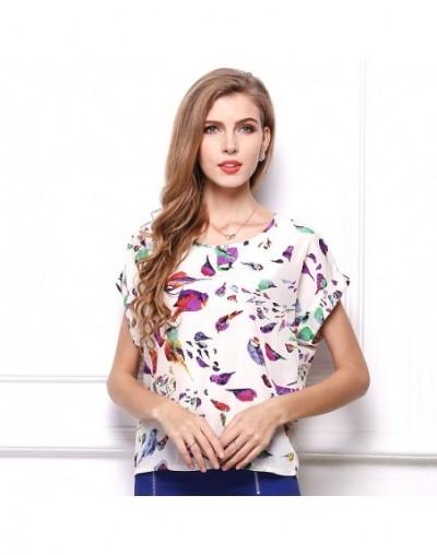 print desig shirt for women summer beach style short sleeve sexy fashion girl elegant lady shirt elegant lady clothing drops...