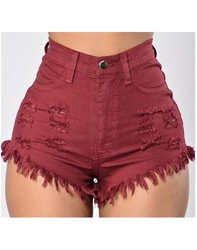 Summer women Shorts Fashion high waist Elasticity feminine Denim Shorts Solid sexy plus size lady Shorts - jiuhong - 4L39217...