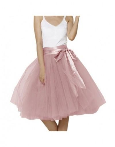 2018 Wholesale Womens Tulle Skirt 7 Layers Midi Petticoat Elastic Belt Summer Vintage Faldas Saia jupe Tutu Skirts Custom Ma...