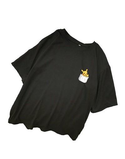 T Shirts Women Summer Cartoon Pikachu Print Tees Harajuku Japanese Kawaii Anime Pokemon Tops Plus Size Streetwear Camiseta M...