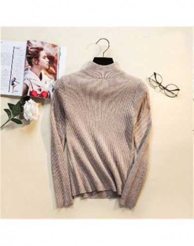2019 Autumn Winter Women Pullovers Sweater Knitted Elasticity Casual Jumper Fashion Slim Turtleneck Warm Female Sweaters - k...