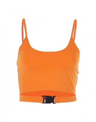 2019 Sexy Women Ladies Casual Summer Sleeveless Tank Top Vest Sleeveless Crop Top Shirt Cami Clubwear Black Orange Green - O...