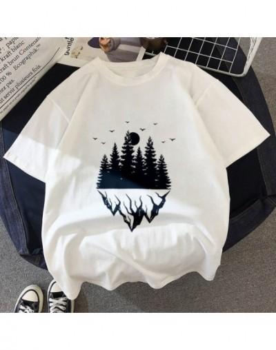 New T-shirt Dark forest Print letter universe faith Harajuku T shirt Women Tshirt O-neck Short Sleeve White Tops Female Clot...