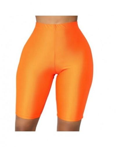2019 New Sexy Women's Summer Leggings Slim Fitness High Stretch Short Leggings Female Short Trousers Sporting Leggings - Ora...