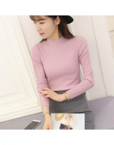 Women Half Turtleneck Solid Kintwear Korean Autumn New Fashion High Elastic Slim Sweaters Long Sleeve Ladies Pullover Tops 6...