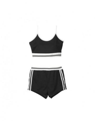 NEW Women Solid Slim Tank Top + Shorts Pants Suit Seamless Bra Sets Fitness Women Clothes Set Sets Sportwear - Gray - 4K3004...