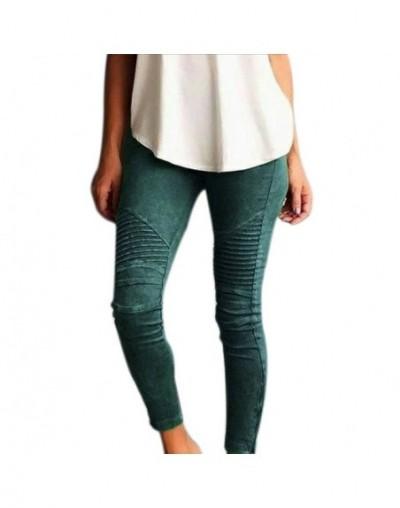 2018 New Women Stretch Leggings Pants Fold High Waist Retro Elastic Slim Fit Trousers for Women Pantalones Mujer Plus Size 5...