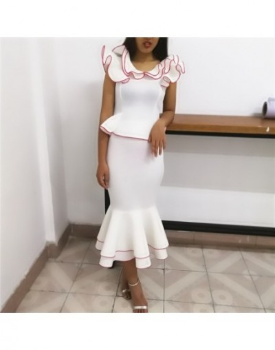 2019 Fashion Two Piece Sets Summer Women Blouses Tops with Skirts Ruffles Office Elegant Classy Modest Female Party Slim Jup...