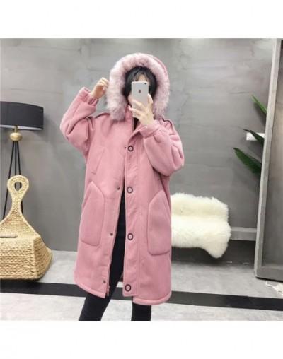 Winter coat women Plus velvet Thicken Loose Oversized Cotton jacket High quality corduroy Windproof warm parkas woman 722 - ...