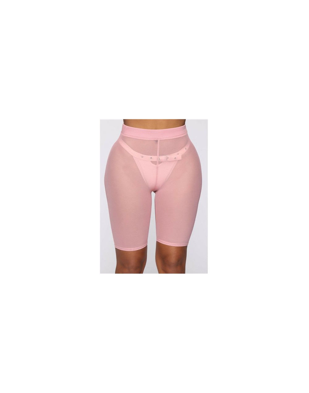 2019 Summer Hot Shorts Women Sexy See-through Slim Fit Mesh Elastic Sports Leggins High Waist Short Femme Perspective Shorts...