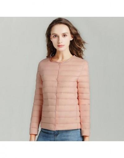 2019 New Women Ultra Light Down Compact Jacket Female Spring Autumn Parka Long Sleeve Lightweight White Duck Down Coat Plus ...