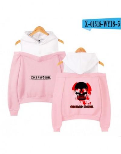2019 CHERNOBYL off-shoulder Hooded Sweatshirt Women Sexy printing hip hop casual long-sleeved CHERNOBYL Hoodies - T - 4P4165...