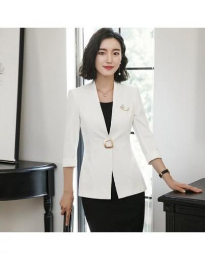 Professional blazer female 2018 new fashion temperament summer half sleeve slim jacket women office ladies plus size formal ...