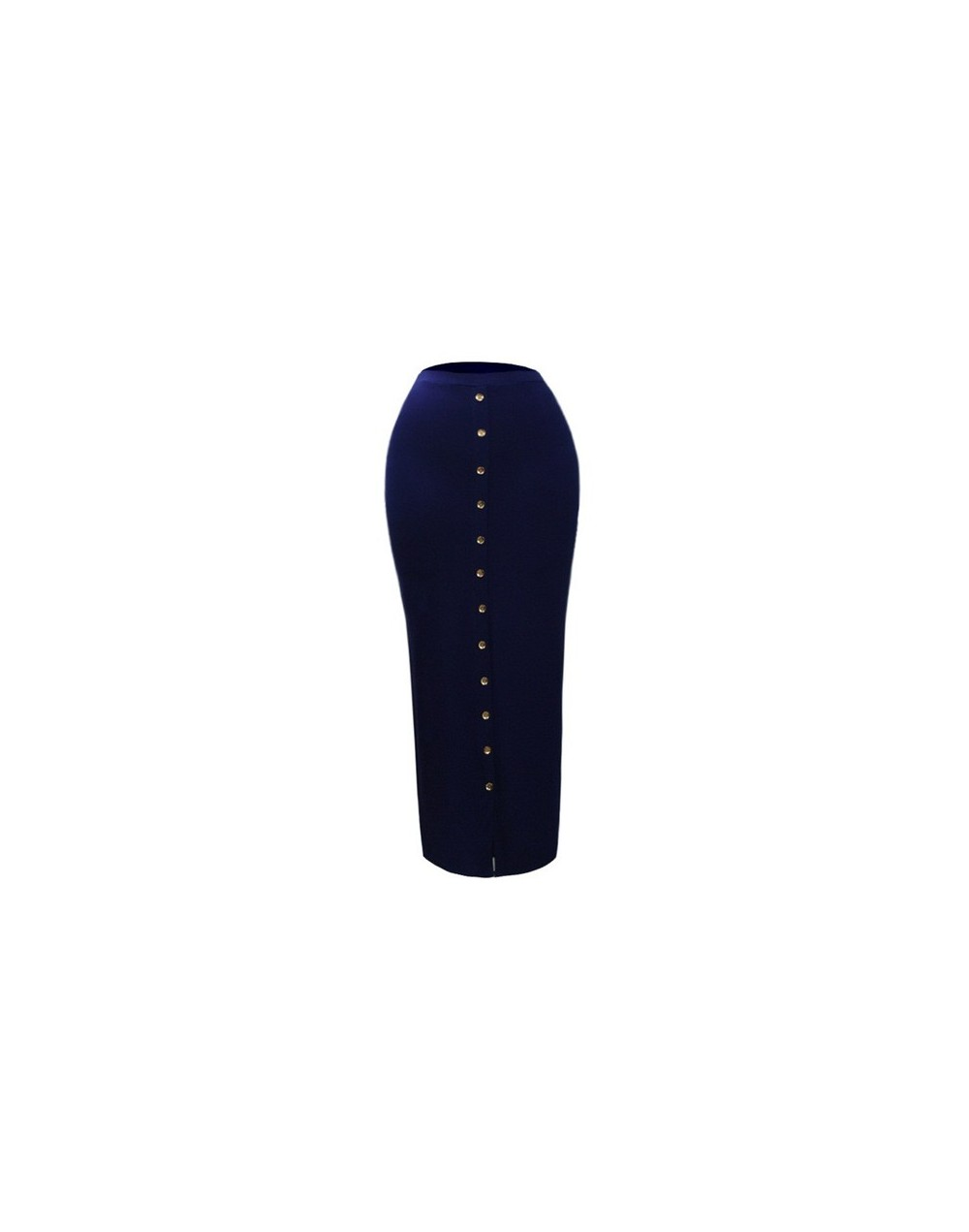 Plus Size 2019 Summer Abaya Muslim Women High Waist Button Bodycon Maxi Skirt Long Turkish Islamic Skirts Bandage Pencil Ski...