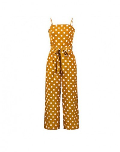 Women Rompers summer long pants elegant strap woman jumpsuits 2019 polka dot plus size jumpsuit off shoulder overalls for wo...