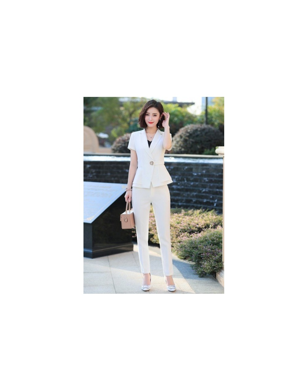 Fashion women New summer pants suits business temperament short sleeve slim blazer and pants offce lady plus size work wear ...