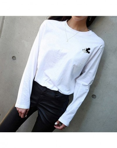 Long sleeve T shirt Women 2019 spring Cotton White casual Wild O Neck tshirt Loose cozy Modis Large size Female Bottoming To...