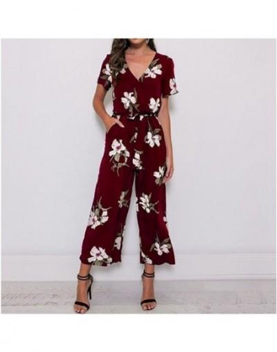 Floral Jumpsuit Plus Size 5xl 4xl Xxxxl Xxxxxl Kombinezony for Women Bodysuit Overalls Summer Combishort Femme 2019 Mono Muj...
