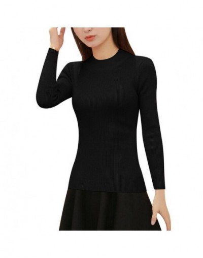 Autumn Winter Casual Sweater Women Fashion Pattern Sweaters Female Basic Pullover Jumpers Long Sleeve Knitted - Black1 - 483...