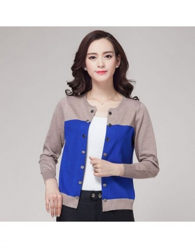 New Fashion 2019 Spring Women Oversize Cardigans Sweaters Knitted Sweater Coat - Blue - 4L3587480784-2