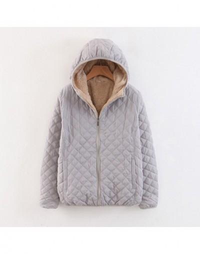 Autumn 2019 New Parkas Basic Jackets Female Women Plus Velvet Lamb Hooded Coats Cotton Winter Keep Warm Jacket Lady Tops - G...