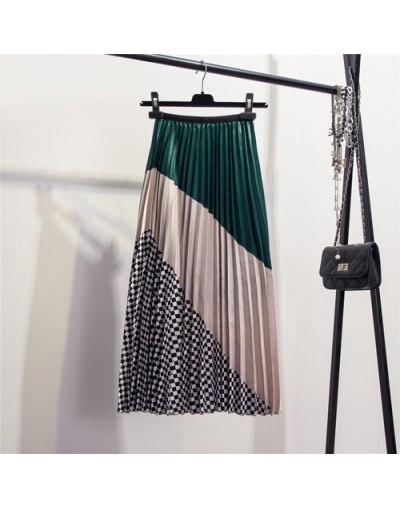 Women Pleated Skirt Fashion 2019 Elastic High Waist Cartoon Skirt Women Spring Summer Midi Skirts A Line Long Skirt For Wome...