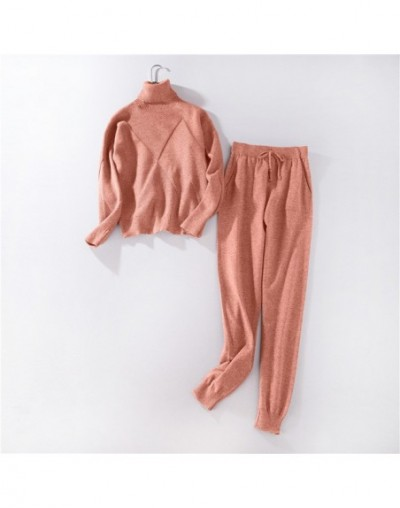 Women sweater suit and sets Casual Autumn Winter 2PCS Track Suit Casual female Knitted Trousers+Jumper Tops Costume Clothing...