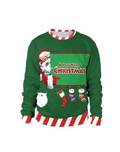 3D Unisex Men Women Ugly Christmas Sweater Vacation Santa Elf Pullover Funny Womens Men Sweaters Tops Autumn Winter Clothing...