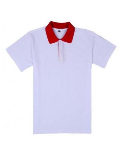 Women Polo Shirt Casual Breathable Patchwork Ladies Polos Plus Size Female Short Sleeve Cotton Polos Shirts XXXL - white red...