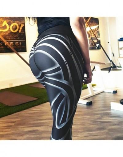 Ins Style 2018 Fashion Fitness Leggings Black Pants High Waist Sexy Workout Put Hip Elastic Skinny Breathable Slim Pants - 4...