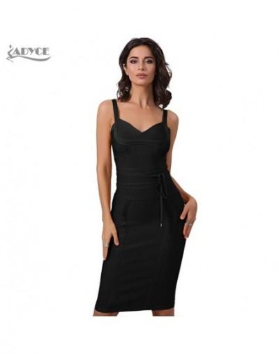 Women Summer Bandage Dress 2019 Sexy Celebrity Party Dress Nightclub Spaghetti Strap Bodycon Club Dress Vestidos - 4 - 42393...