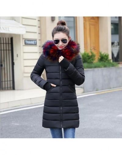 Promotion price!2019 Winter Coat Women Fake Raccoon Fur Collar Woman Parka Outerwear Warm Down jacket Winter Jacket Female C...