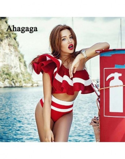 2018 Summer Cute Suit Set Ruffle Sexy Women Suits Sets Off Shoulder Costume Casual Fitness Short Suits Elastic Capris - red ...