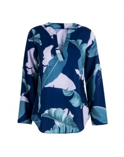 2018 New Womens Long Sleeve V neck Floral Print Tops Fashion Ladies Summer Casual Blouse Loose Shirt - As picture show - 4M3...