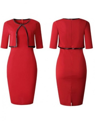 Office Lady Dress Suits Set 2019 New Spring Summer Vintage OL Business Work Career Women Bodycon Slim Pencil Dress Plus Size...