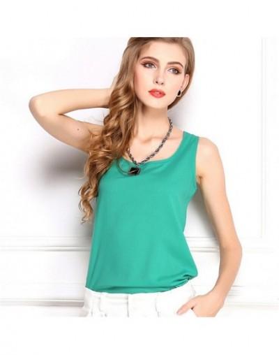 Summer style Multiple Women Tank Tops Brand Good Quality Women Chiffon Sleeveless Tshirt Female Shirt blouse Blusas Feminina...