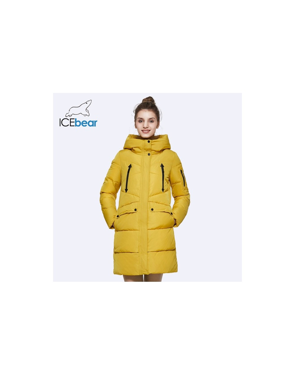 2019 New Women Winter Jacket Coat Slim Winter Quilted Coat Long Style Hood Slim Parkas Thicken Outerwear B16G6155D - 16505 y...