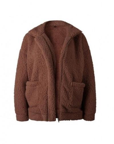 Elegant Faux Fur Coat Women 2018 Autumn Winter Warm Soft Zipper Fur Jacket Female Plush Overcoat Pocket Casual Teddy Outwear...