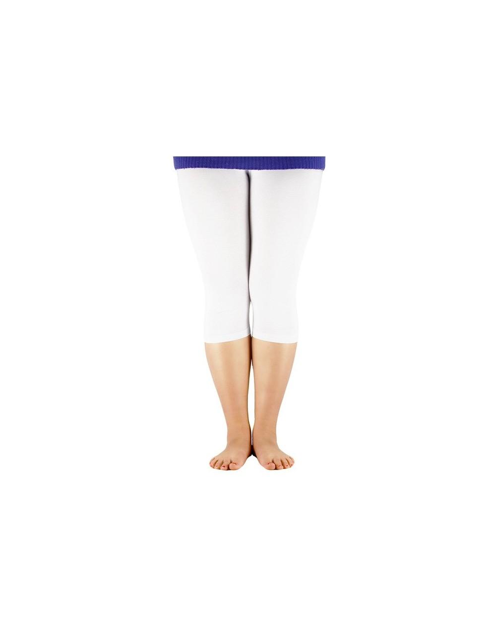 Women's 3/4 length Leggings Bamboo Fiber Plus Size Capri Legging High Stretchy Bumps Style Leggings Pants Basic Leggings - W...