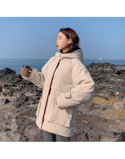 Down jackets 2019 Fashion Women Winter Coat Long Loose Thicken Warm Jacket Down Cotton Padded Jacket Outwear Parkas - Beige ...