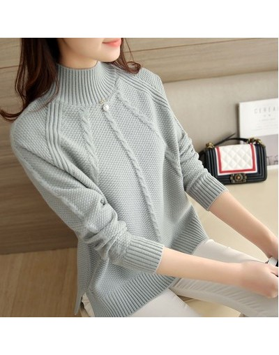 2018 New Winter Sueter Mujer Korean Loose Large Size Women Knitwear Long Sleeve Pullover Sweater Turtleneck Basic Knitted Sh...