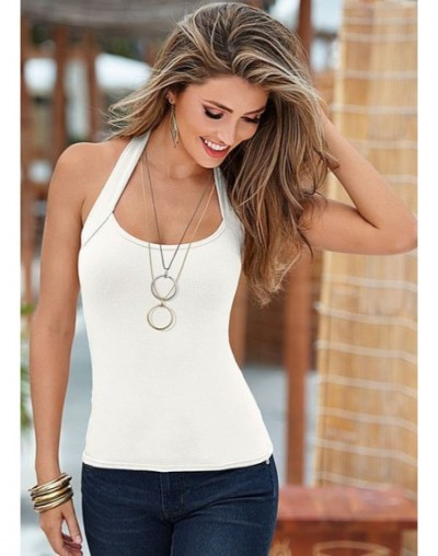 Crop Top cropped Halter Tops 2019 Women Debardeur Femme Knitted Blouses Cotton Vest Womens Off Shoulder Sexy Tops Woman Clot...
