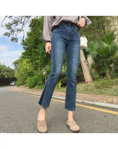 2019 New Women Wide Leg Jeans Fashion Casual Flare jeans Plus Size High Waist And ankle length Denim Pants Spring Autumn - B...