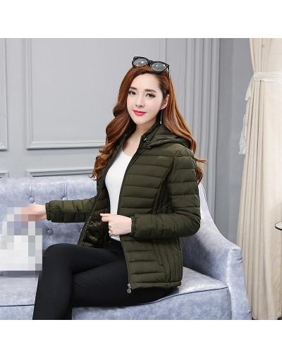 2019 new women's wear Korean version autumn winter fashion short cotton-padded clothes coat cheap wholesale - Army Green - 4...