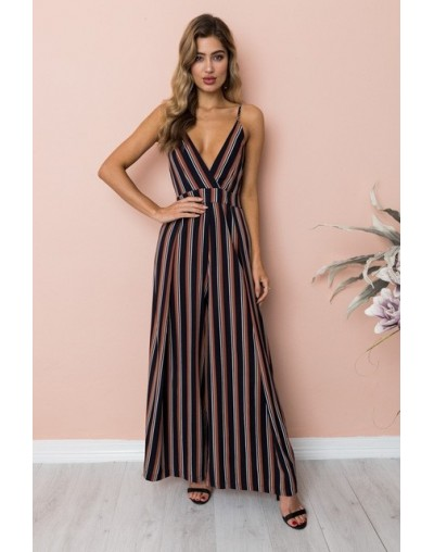 New Summer 2019 Women Sexy Spaghetti Strap Jumpsuits V-Neck Backless Beach Casual Loose Rompers Female Wide Leg Pants Jumpsu...