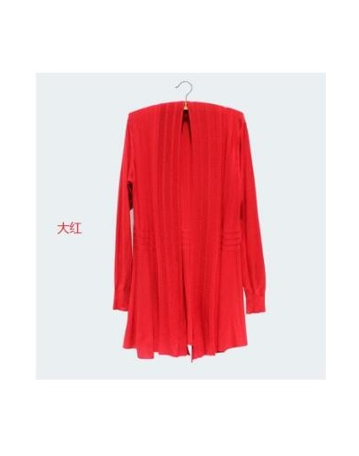 Womens Long Cardigan Coat Female 2018 Ladies Knitwear Oversize Spring Cardigan Sweater Women Knitted Cardigan Poncho - Red -...