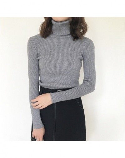Turtleneck Cashmere Women Sweaters And Pullovers Autumn Winter Long Sleeve Fit Slim Pull Femme Hiver Casual Knitted Sweater ...