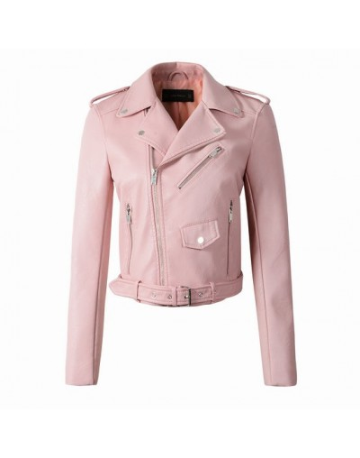 2018 New Fashion Women Autunm Winter Wine Red Faux Leather Jackets Lady Bomber Motorcycle Cool Outerwear Coat with Belt Hot ...